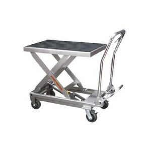 Rolling Table Cart Hydraulic Lift Cart W foot Pump Dolly Tools 1000lbs