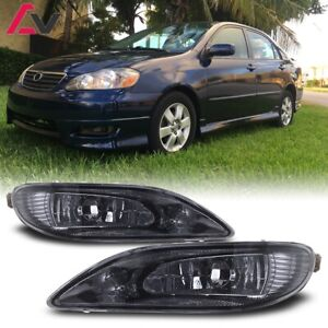 For Toyota Corolla 05 08 Smoke Lens Pair Bumper Fog Light Lamp Wiring Switch Kit