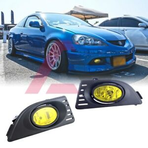 For Acura Rsx 05 07 Yellow Lens Pair Bumper Fog Light Lamp Wiring Switch Kit Dot