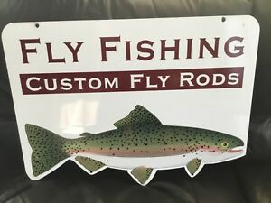 Fly Fishing Custom Fly Rods outdoor Retail Sign Graphics 24 x18