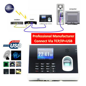 Techtongda Biometric Fingerprint Time Attendance Time Clock Recorder Tcp ip usb