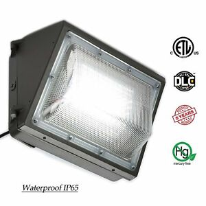 70w 100w 125w Led Wall Pack dusk To Dawn Outdoor Light Fixture 5500k White