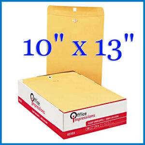 no Tax Office Impressions Clasp Envelopes 10 X 13 Kraft 200 count