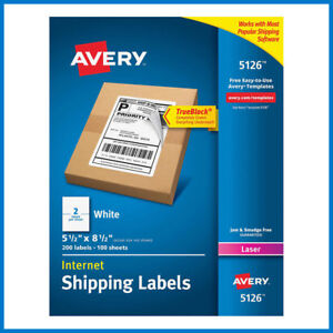 no Tax Avery Labels With Trueblock Technology 5 1 2 X 8 1 2 5126 200 count