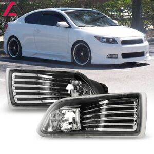For 2005 2010 Scion Tc Fog Lights Wiring Switch And Bezels Kit Clear Lens