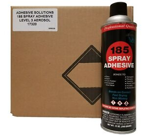 V s 185 Industrial Spray Adhesive Case With 12 Cans