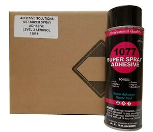 V s 1077 Super Spray Adhesive Fine Mist Spray Pattern Case With 12 Cans