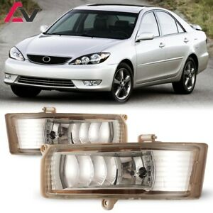For Toyota Camry 05 06 Clear Lens Pair Bumper Fog Light Lamp Wiring Switch Kit