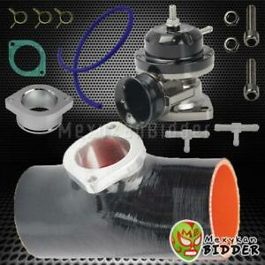25 Psi Black Intercooler Type Rs Blow Off Valve 3 Bov Silicone Adapter Black