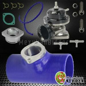Blue 3 Bov Flange Coulper Billet Aluminum Type Rs Turbo Blow Off Valve Black