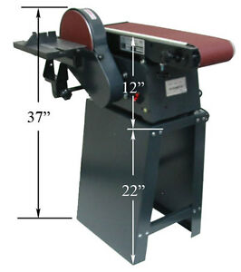 6 x 9 Disc Belt Vertical Horizontal Sander wStand