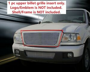 Fits 2006 2012 Ford Ranger Replacement Billet Grille Grill Upper Grill
