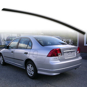 Rear Trunk Lip Spoiler For Honda Civic 7th Es1 01 05 Sedan Unpainted Black