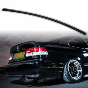 For Honda Civic 6th 96 00 Fyralip Rear Trunk Lip Spoiler Wing Unpainted Black