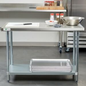Regency 24 X 48 Stainless Steel Work Prep Table Commercial Nsf