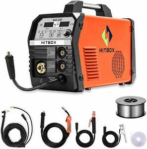 Mig Welder 200a Gas Mag Welding Machine Gasless 220v Mma Lift Tig Stick Welder