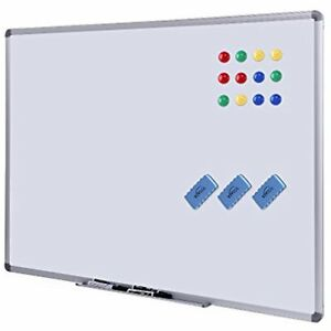 Dry Erase Board White 48 X 36 Magnetic With Aluminum Frame Large Commercial