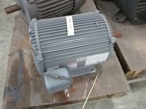 Emerson Ac Motor Uv7s4bf9 p 7 5hp 845rpm 230 460v 25 2 12 6a 3ph Used