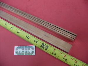 9 Pieces 1 8 X 3 4 C110 Copper Bar 14 Long Solid Flat Mill Bus Bar Stock H02