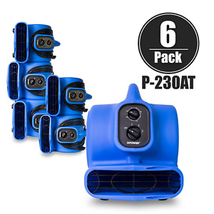 Xpower P 230at 1 5 Hp Mini Air Mover Dryer Blower Fan Timer Daisy Chain 6 Pack