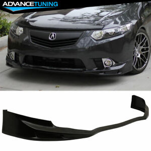 Fits 11 14 Acura Tsx Front Bumper Lip Splitter Guard Unpainted Black Pu Urethane