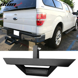 Universal Black Powder Steel Rear Bumper Step 2inch Hitch Receiver 31 5 Inch