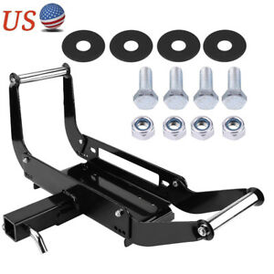 Foldable Winch Mounting Plate Cradle Mount For 2 Hitch Receiver 4wd For Suv Us