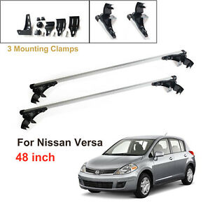 For Nissan Versa 2007 2011 Aluminum Car Roof Cross Bar Cargo Luggag Carrier Rack