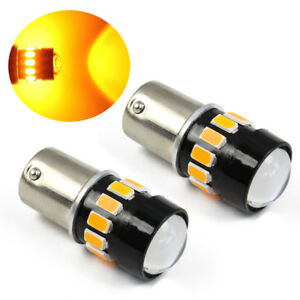 2pc 1156 Projector 5630 Chip 16led Amber Turn Signal Brake Tail Lights Bulbs