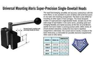 Aloris Bxa h Universal Mounting Dovetail Head Tool Post