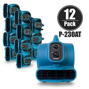 Xpower P 230at Commercial Grade Air Mover Carpet Dryer Blower timer