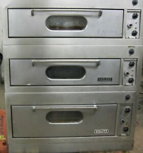 Garland Triple Stack 3 Electric Ovens Baking Pizza Etc Oven New Thermostats
