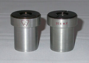 Bausch Lomb 20x Wf Eyepieces For Their Stereo Zoom Microscopes