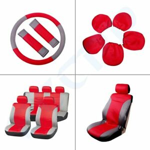 New Durable Universal Red Gray Vehicle Car Seat Covers For Porsche