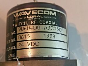 Wavecom Loral Rf Coaxial Switch Sp6t 9060 d0 a3c 5c0 24vdc