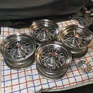 Corvette Wire Spoke Wheels 15x8 Set Of 4