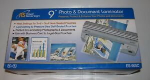 Royal Sovereign 9 Photo Document Hot Cold Laminator Pouch Seal Es 900c New