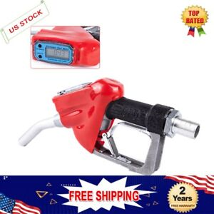 Nozzle Digital Flow Meter Fuel Delivery Gun Factories Coach Yard Gas Station