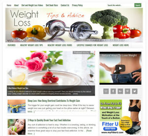 Diet Weight Loss Website Business For Sale W Daily Auto Content Updates