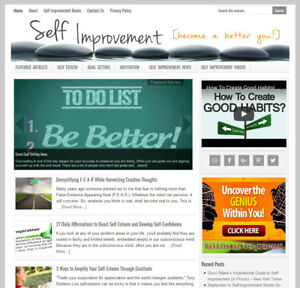 Self Improvement Turnkey Website Business For Sale With Automatic Content