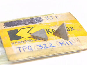 New Surplus 7pcs Kennametal Tpg 322 Grade K11 Carbide Inserts