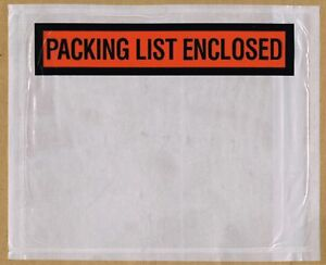 Packing List Enclosed Envelopes Invoice Receipt Slips 7 X 5 1 2 1000 Count