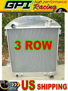 3core 1924 1927 Ford Model T T Bucket Chevy Engine Aluminum Radiator 1925 1926
