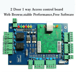 Network Wiegand 26 Entry Access Control Panel Access Control Board For 2 Door