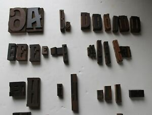 Assortment Of Wood Type And Printing Press Furniture