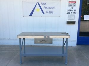 Stainless Steel Work prep Table W drawer Can Opener Mount 2978