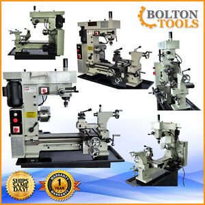 New Bolton Tools 16 X 20 Precision Combo Metal Lathe Mill Drill Machine Bt500