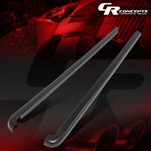 For 01 04 Toyota Tacoma Crew Cab Pair Satin Black Truck Bed Caps Rail Protector