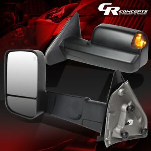 For 02 09 Dodge Ram Powered Towing camper Side Mirror W heated puddle Light L r