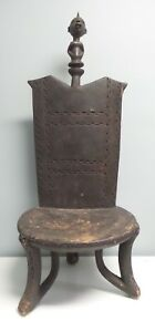 Incredible Large Antique Mossi Ceremonial Chair Burkina Faso Africa 35